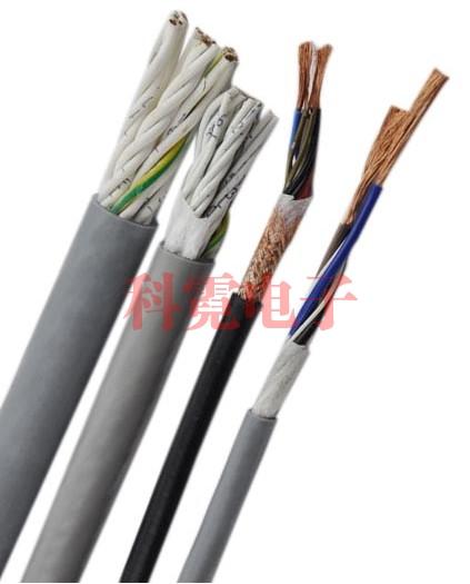 中柔性电缆 拖链电缆屏蔽多芯200万次折弯